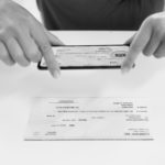 Taking a photo of a check for remote deposit